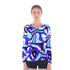 Ribbon Chaos Ocean Women s Long Sleeve T-shirts