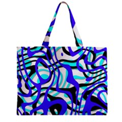 Ribbon Chaos Ocean Zipper Tiny Tote Bags