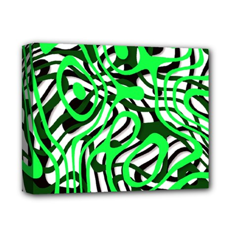 Ribbon Chaos Green Deluxe Canvas 14  x 11