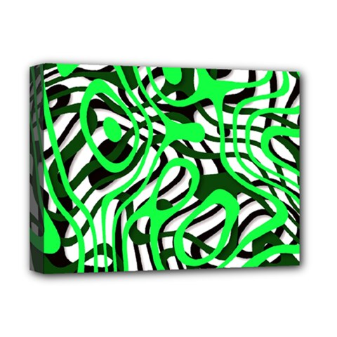 Ribbon Chaos Green Deluxe Canvas 16  x 12