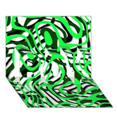 Ribbon Chaos Green BOY 3D Greeting Card (7x5)