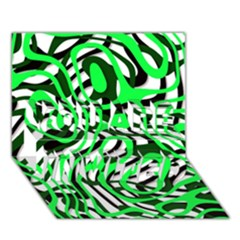 Ribbon Chaos Green You Are Invited 3d Greeting Card (7x5)
