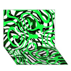 Ribbon Chaos Green Clover 3D Greeting Card (7x5)