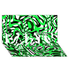 Ribbon Chaos Green Party 3d Greeting Card (8x4)