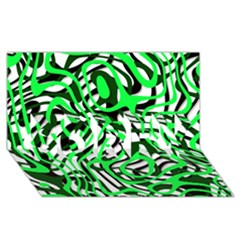 Ribbon Chaos Green Sorry 3d Greeting Card (8x4)
