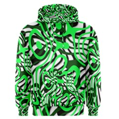 Ribbon Chaos Green Men s Pullover Hoodies