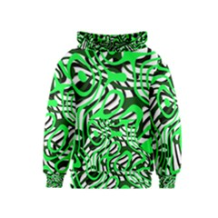 Ribbon Chaos Green Kid s Pullover Hoodies