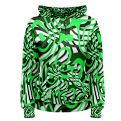 Ribbon Chaos Green Women s Pullover Hoodies