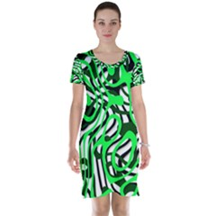 Ribbon Chaos Green Short Sleeve Nightdresses