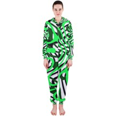 Ribbon Chaos Green Hooded Jumpsuit (Ladies)