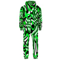 Ribbon Chaos Green Hooded Jumpsuit (Men)