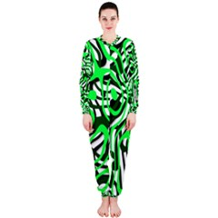 Ribbon Chaos Green Onepiece Jumpsuit (ladies)
