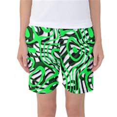 Ribbon Chaos Green Women s Basketball Shorts