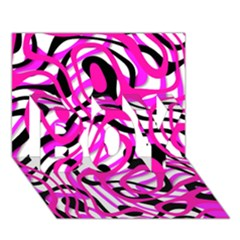 Ribbon Chaos Pink BOY 3D Greeting Card (7x5)