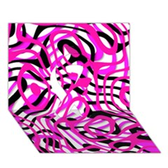 Ribbon Chaos Pink Ribbon 3D Greeting Card (7x5)