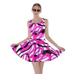 Ribbon Chaos Pink Skater Dresses