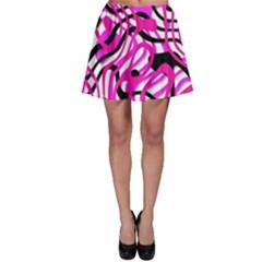 Ribbon Chaos Pink Skater Skirts