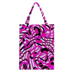 Ribbon Chaos Pink Classic Tote Bags