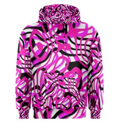 Ribbon Chaos Pink Men s Pullover Hoodies