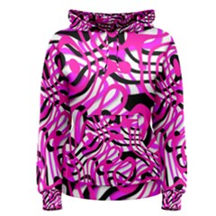 Ribbon Chaos Pink Women s Pullover Hoodies