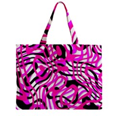 Ribbon Chaos Pink Zipper Tiny Tote Bags