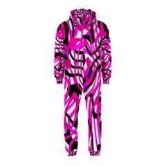 Ribbon Chaos Pink Hooded Jumpsuit (Kids)