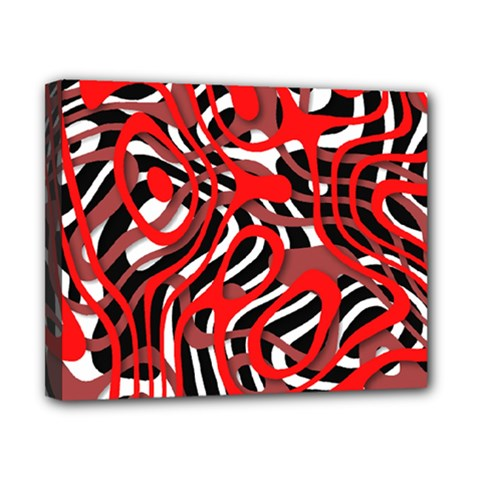 Ribbon Chaos Red Canvas 10  x 8