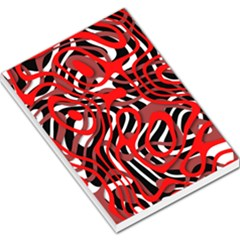 Ribbon Chaos Red Large Memo Pads
