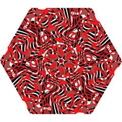 Ribbon Chaos Red Mini Folding Umbrellas