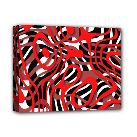 Ribbon Chaos Red Deluxe Canvas 14  X 11