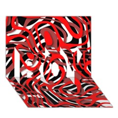 Ribbon Chaos Red BOY 3D Greeting Card (7x5)
