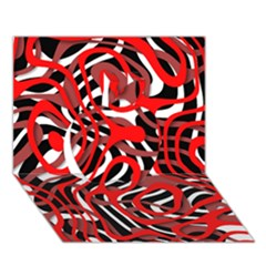 Ribbon Chaos Red Apple 3D Greeting Card (7x5)
