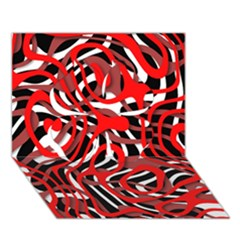 Ribbon Chaos Red Clover 3D Greeting Card (7x5)