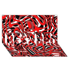 Ribbon Chaos Red BEST BRO 3D Greeting Card (8x4)