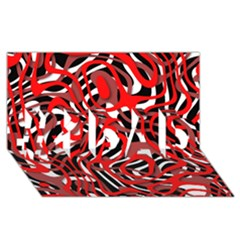 Ribbon Chaos Red #1 DAD 3D Greeting Card (8x4)