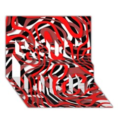 Ribbon Chaos Red You Did It 3d Greeting Card (7x5)