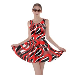 Ribbon Chaos Red Skater Dresses