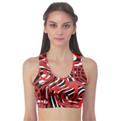 Ribbon Chaos Red Sports Bra