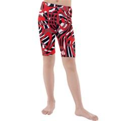 Ribbon Chaos Red Kid s swimwear