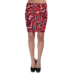Ribbon Chaos Red Bodycon Skirts