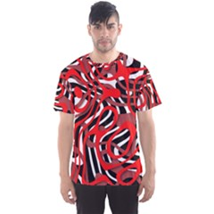 Ribbon Chaos Red Men s Sport Mesh Tees