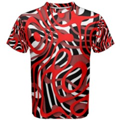 Ribbon Chaos Red Men s Cotton Tees