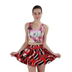 Ribbon Chaos Red Mini Skirts