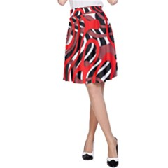 Ribbon Chaos Red A-Line Skirts