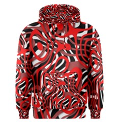 Ribbon Chaos Red Men s Pullover Hoodies