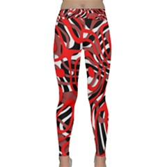 Ribbon Chaos Red Yoga Leggings