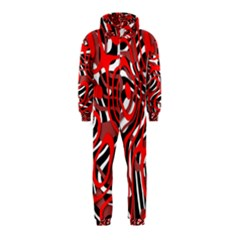 Ribbon Chaos Red Hooded Jumpsuit (Kids)