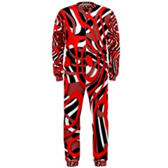 Ribbon Chaos Red OnePiece Jumpsuit (Men)
