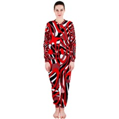 Ribbon Chaos Red OnePiece Jumpsuit (Ladies)