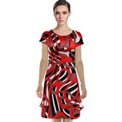 Ribbon Chaos Red Cap Sleeve Nightdresses